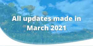 March 2021 updates